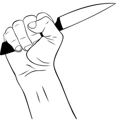 Hand with Knife vector image