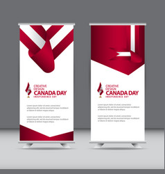 Happy canada independence day celebration vector