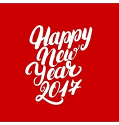 Happy New Year 2017 hand written lettering vector