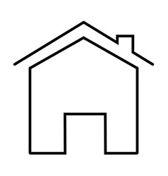 home icon on white background flat style home vector image