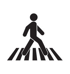 human walk crosswalk icon vector image