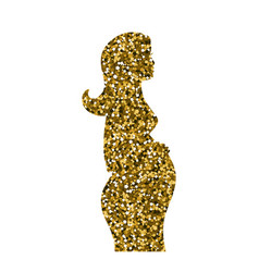 icon of a pregnant girl vector image