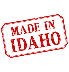 Idaho - made in red vintage isolated label vector