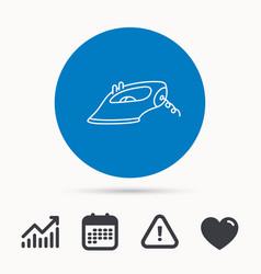iron icon ironing housework sign vector image