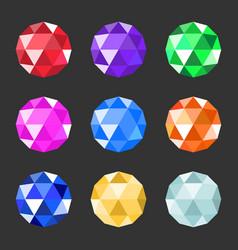 Jewels set gem stock vector