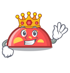 King semicircle mascot cartoon style vector