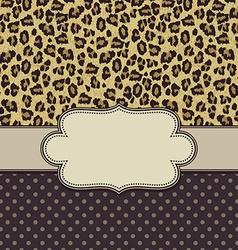 leopardframe vector image