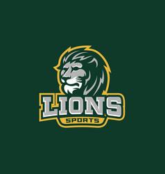 Lions head sport team logo template vector