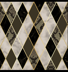 marble and snakeskin luxury geometric seamless vector image
