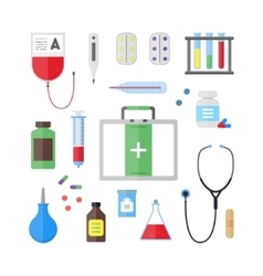 Medical Healthcare Tool and Equipment Set vector image