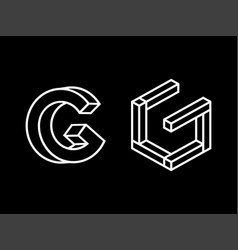 Modern professional logo monogram g in geometric vector
