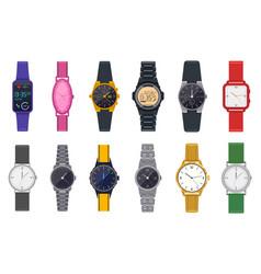 modern watches wristwatch unisex time vector image
