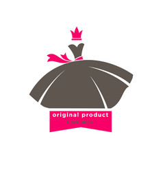 original products designers boutique logotype with vector image