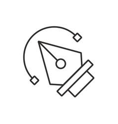 Pen tool icon black vector