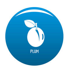 plum icon blue vector image