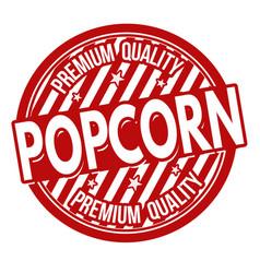 Popcorn label or stamp vector
