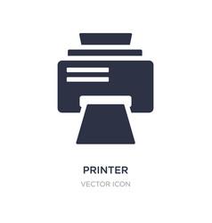 Printer printing squares icon on white background vector