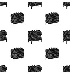 raw food lying on rack shelves icon in black style vector image