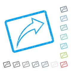 Redo icon rubber watermark vector