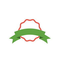 ribbon badge icon design template vector image