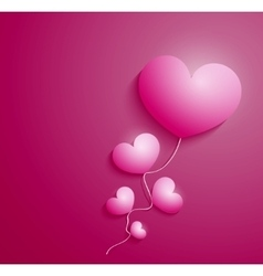 Rose heart for cad Valentines day vector