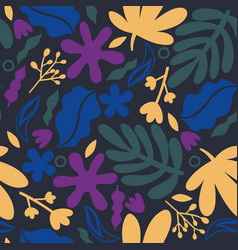 seamless pattern with abstract floral shapes vector image