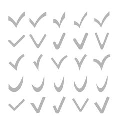 Set of Different Check Marks vector image