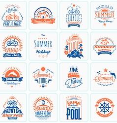 Set of Retro Summer Holidays Design Elements vector
