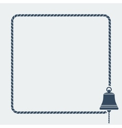 Ship bell marine background vector