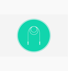 skipping rope icon sign symbol vector image