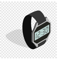 Smart watch isometric icon vector