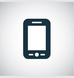 smartphone icon for web and ui on white background vector image