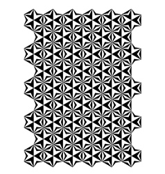 Star block pattern vector
