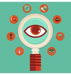 Surveillance concept vector