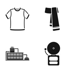 T-shirt scarf and other web icon in black style vector
