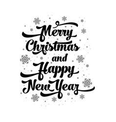 Text on white background merry christmas vector