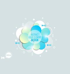 The modern liquid form design elements vector