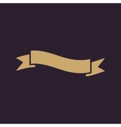 The ribbon icon ribbon symbol flat vector