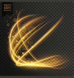 Transparent golden light effect sparkling vector