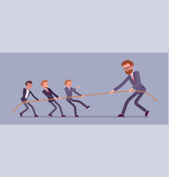tug of war men vs giant vector image