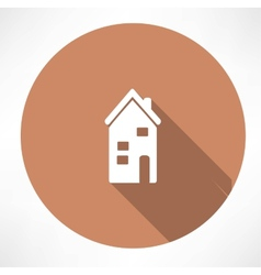 two-storey house icon vector image