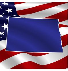 united states both dakota on usa flag vector image