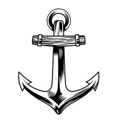 vintage sea anchor concept vector image