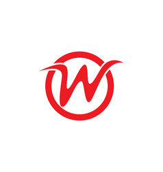 w letters logo and symbols vector image