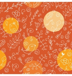 Warm colors seamless background with birds and vector image