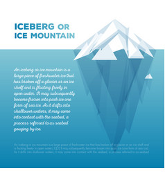 white tip ice mountain vector image