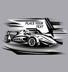 With racing car on track vector