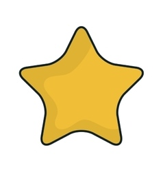 Yellow star shape vector