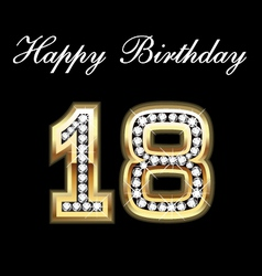 18 birthday vector image vector image
