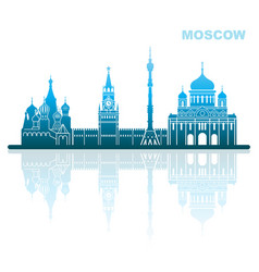 attractions moscow abstract landscape vector image